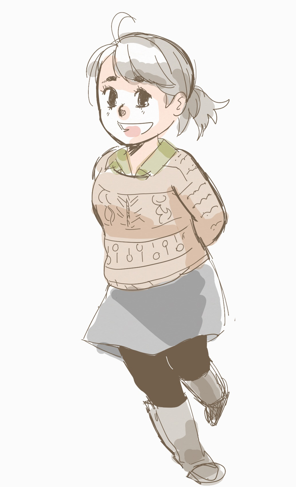 My favorite outfit this past winter - with a sweater I made. (Hi, I also like to doodle and share that here as well!)